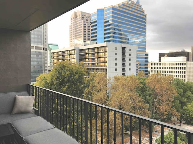 Large apt, 11th floor, views of downtown, Capitol.