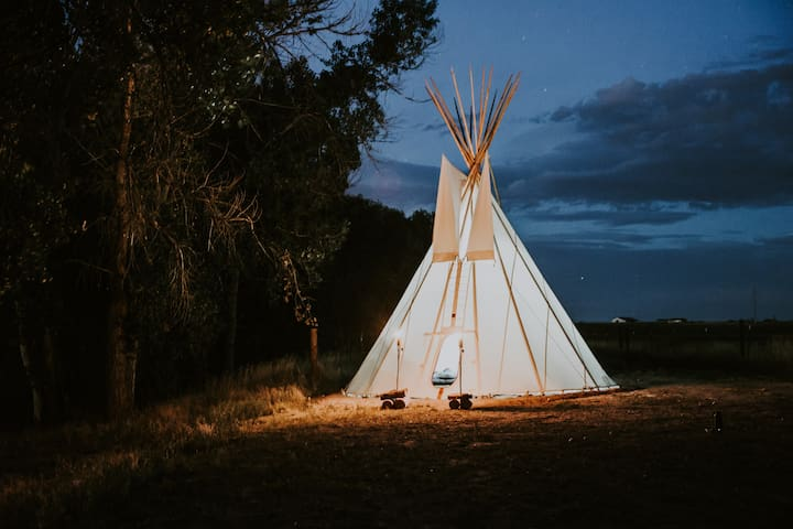 Creekside Teepee on Colorado Horse Ranch