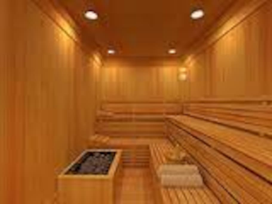 Our sauna has four settings - it's a steam room as well