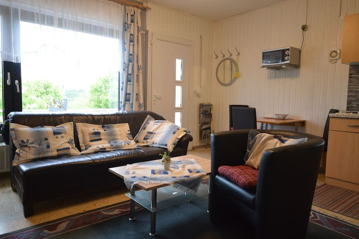 Holiday home with large garden in great location near the Moselle, offering views of Luxembourg