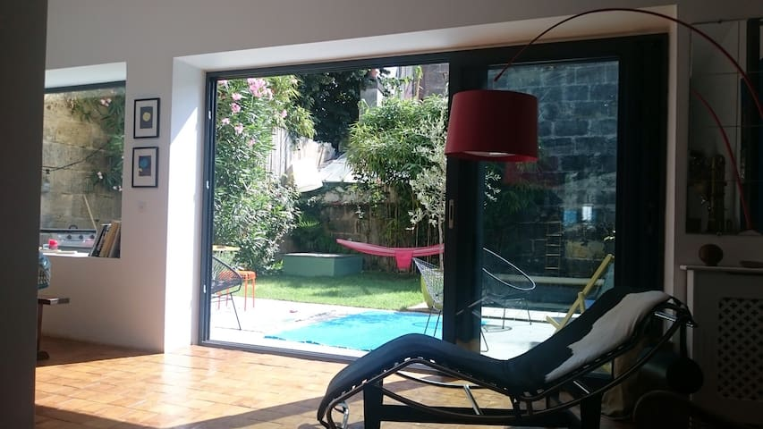House with swimming pool to Nansouty - Bordeaux - Huis