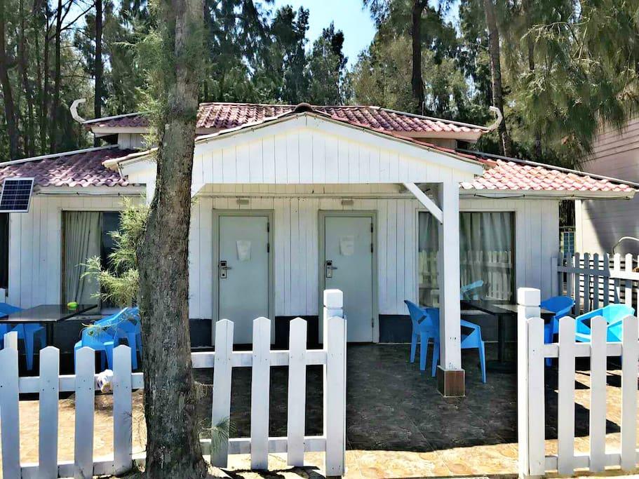 庭院海景小木屋