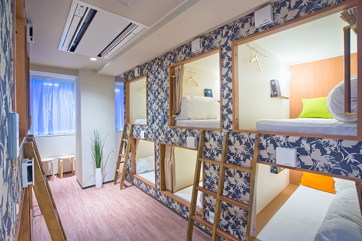 [Mixed Room] 1min Shinsaibashi St. near Dotonbori