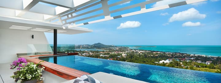 Deluxe Sea View Villa with SALA and Infinity Pool