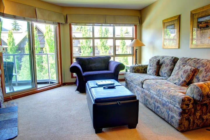Prime Ski-in Ski-out Location! Pool, Hot tubs, BBQ, sleeps 4 (461)