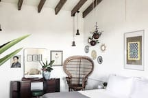 Every room is different but has the same amenities.  all are decorated beautifully with vintage decor and are located in the same building