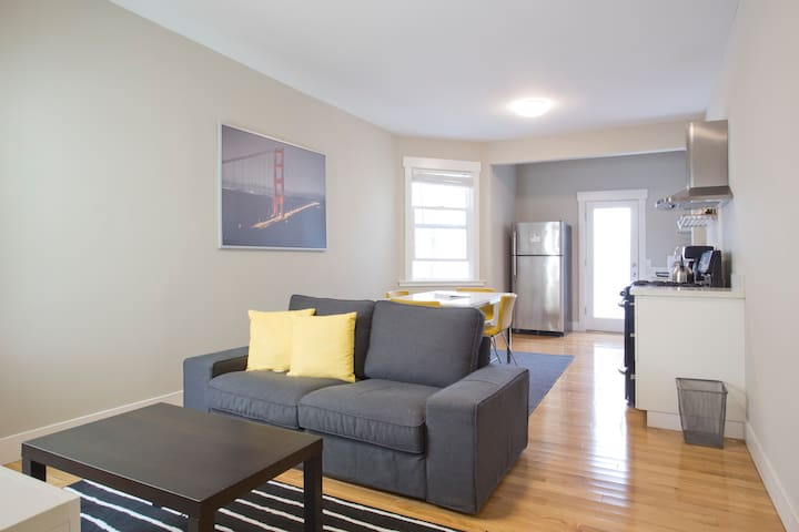 Livingroom Is right after the Kitchen in this open floor plan.