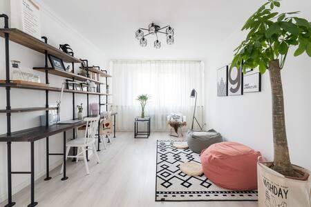 Sharon's Apartment | 简洁1.8m大床房临近国信体育场、石老人海水浴场、齐鲁医院 - Qingdao - Leilighet
