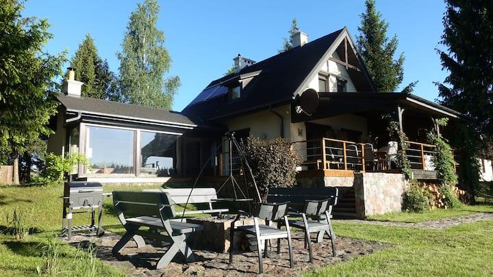 Dom wakacyjny SIELSKIE SIOŁO nad jeziorem (8 osób)