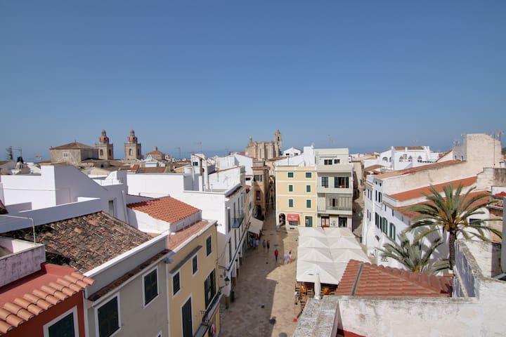 Apartamento en casco antiguo con terraza y vistas