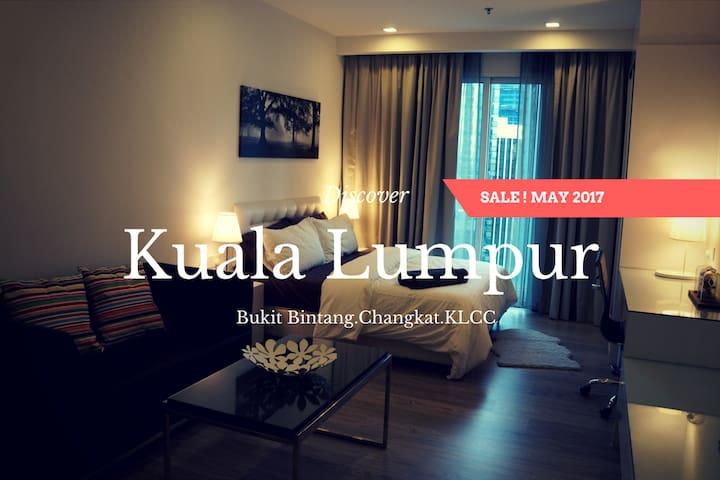 Cozy Suite with Balcony in Bukit Bintang,KLCC #01 - Kuala Lumpur - Byt