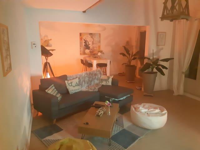 Chambre dans un appartement duplex
