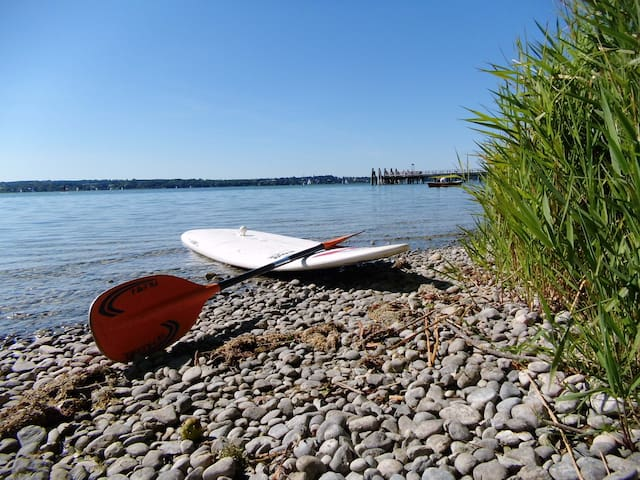 """Lake """"Ammersee"""" about 1km from us"""