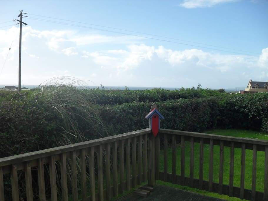 sea view from the decking area