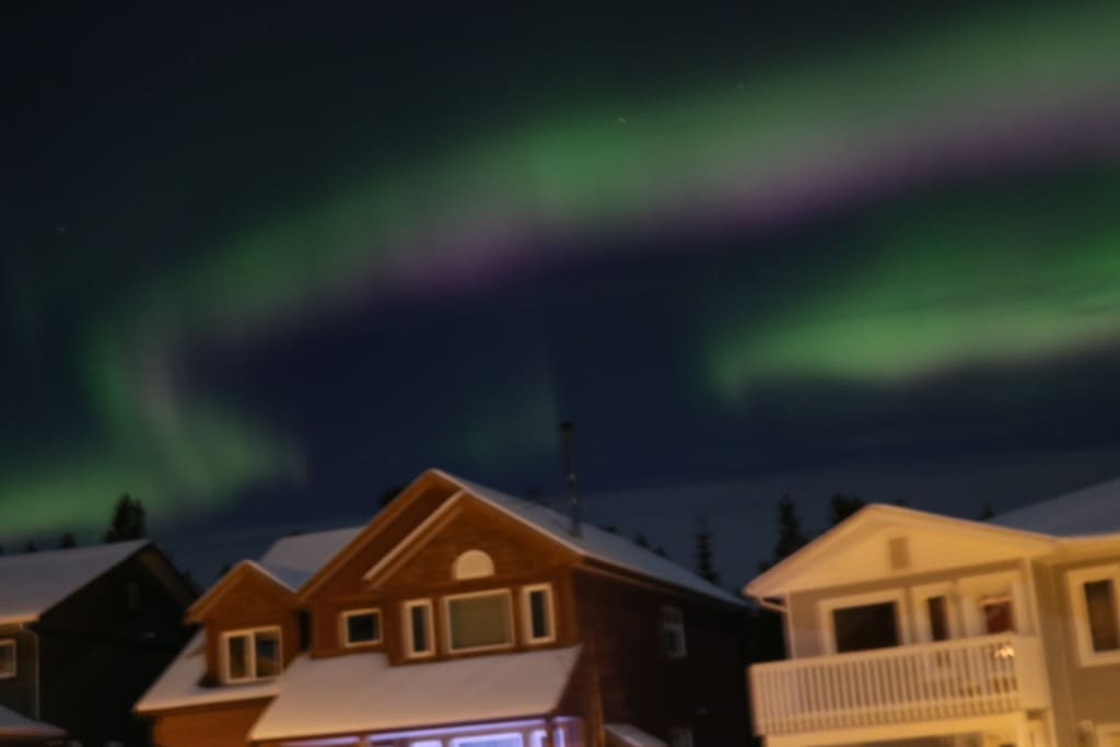 Aurora seen from our front yard