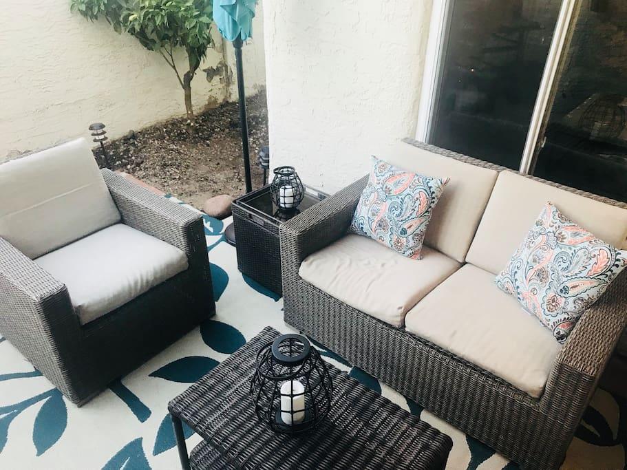 Ground level patio