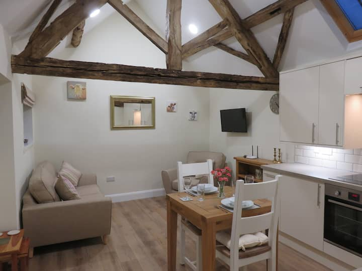 2. Newly converted barn with original beams.