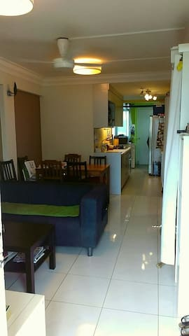 1 queen bedroom in 3 bedroom apt 10 mins from CBD
