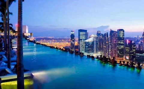 Marina Bay Sands (MBS)hotel 新加坡金沙无边泳池酒店