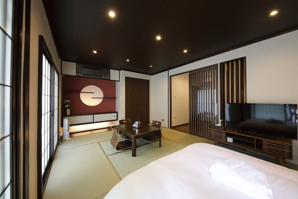 Japanese Style Room with Modern Interiors
