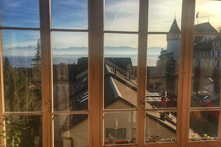Great view in a flat in center of Nyon - Nyon - Apartment