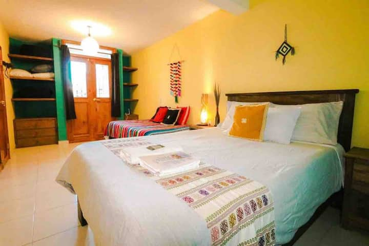 Casa Ohana:Eco home:chambre/s.d bains privée