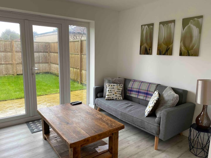Two Bedroom own parking space, garden and entrance