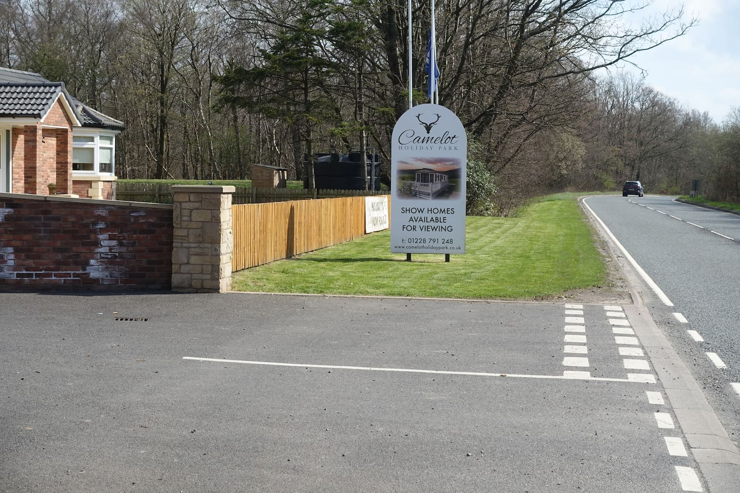 Camelot holiday park. Located by the A7 .Handy for the lake district & the scottish borders.