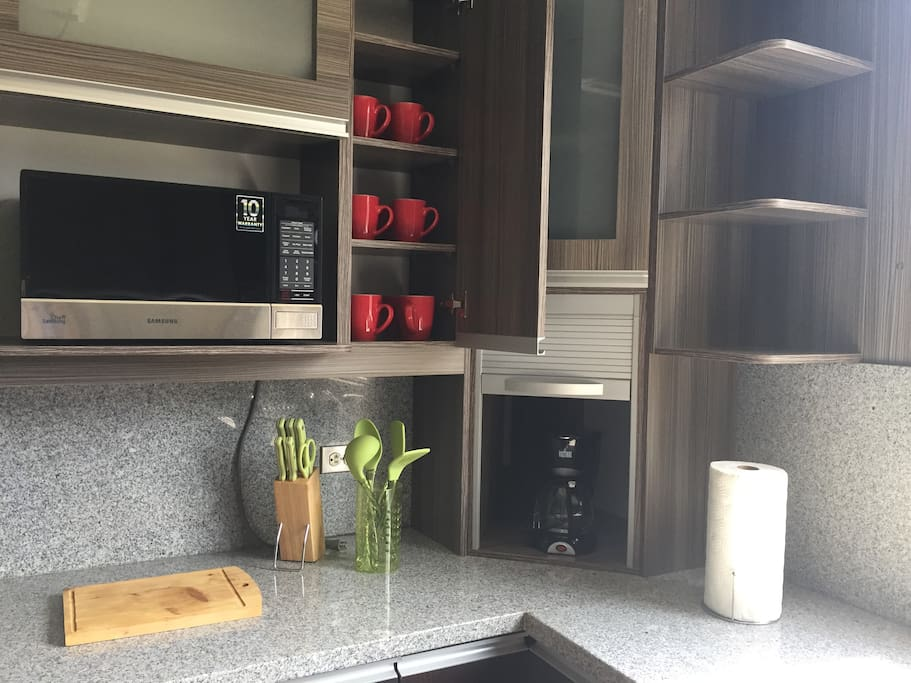 Coffee maker and other kitchen utensils