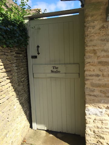 The Studio has a private gate just for guests