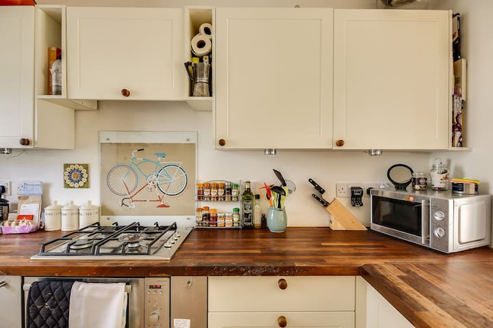 A fully-equipped kitchen...