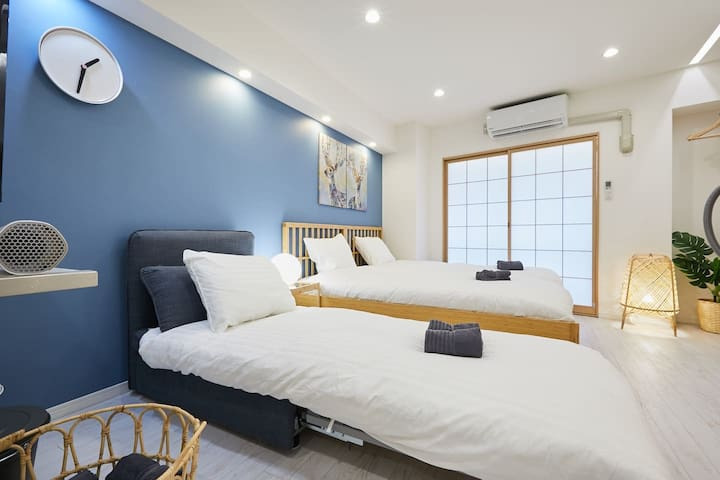 E# 42★4 Beds Shinjuku★disinfection★Free Wi-Fi