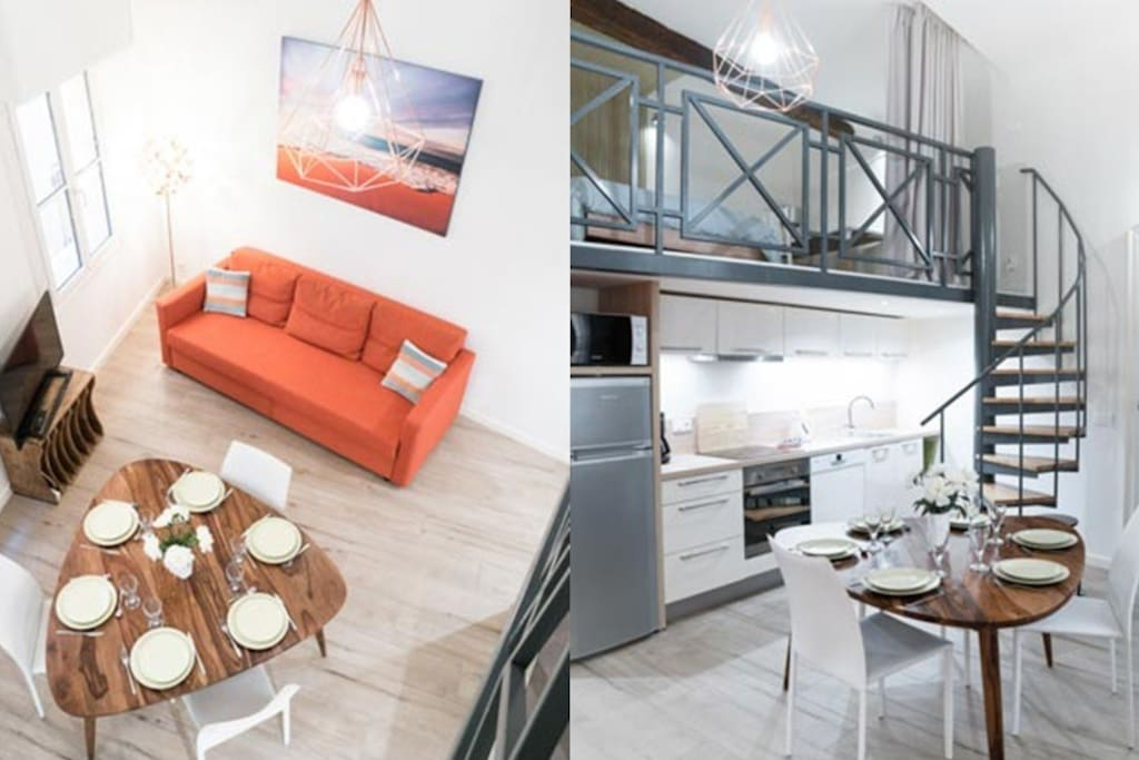 Vaste appartement atypique climatis proche mer for Location appartement atypique 92