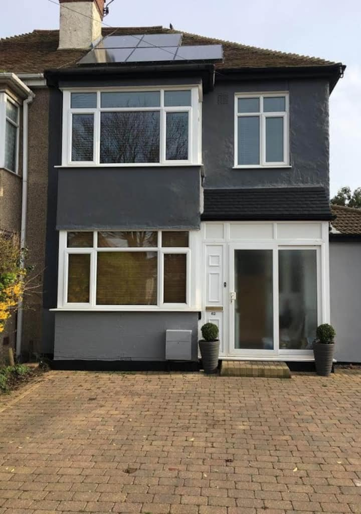Lovely Family home three minutes walk from beach