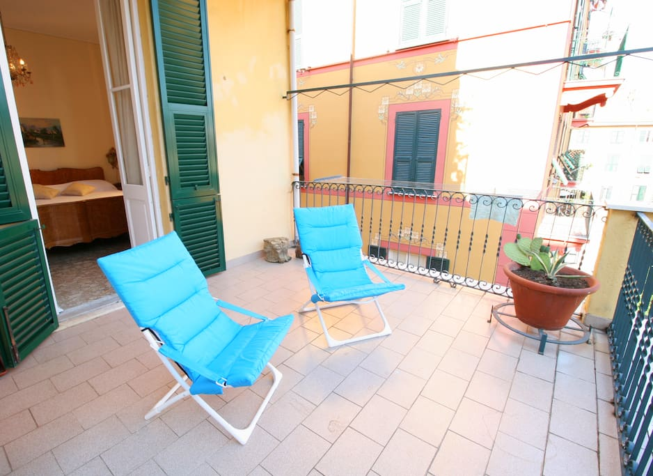 Relax on the terrace when you come back from the beach