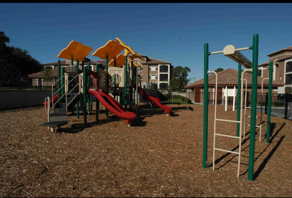 Grounds feature a playground, tennis courts, bbq and picnic areas, a gym, and pool.