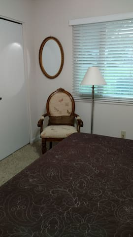 Reading chair in guest room