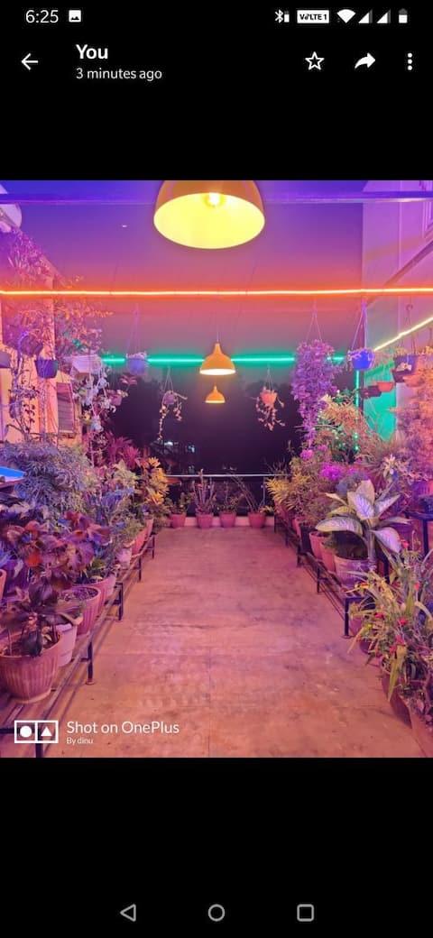 Alluring garden stay in terrace near TIFR