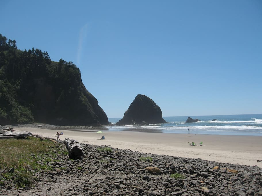 The Barnacle's Beach in July