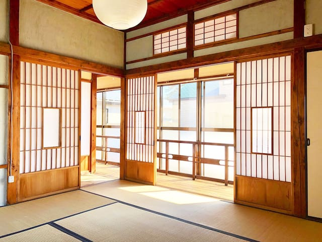 Tatami room in old style Japanese house,Odawara