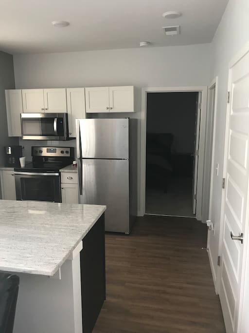 Full kitchen with stainless steal appliances