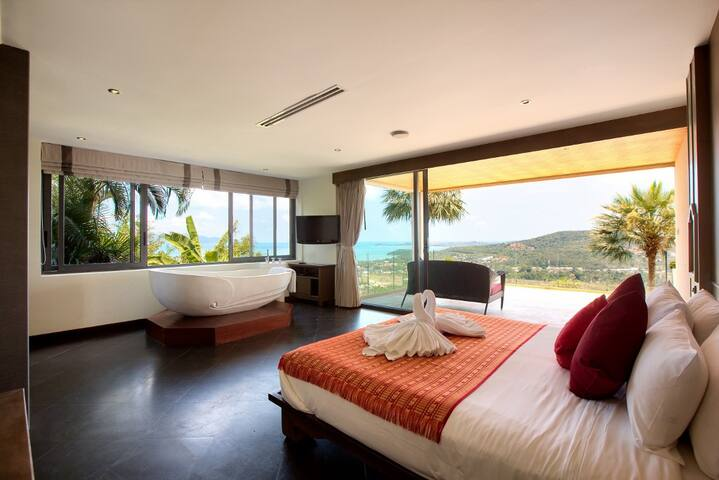 Luxurious 3BR villa with Ko Samui view - サムイ島 - 別荘