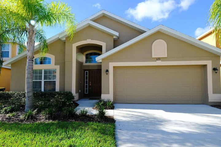 Near Disney! 4BR Family Home with Pool + King Bed