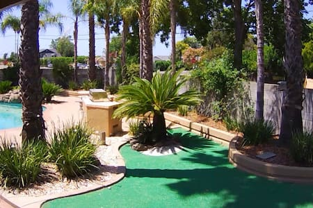 Oasis outside city limits; swim or play mini golf