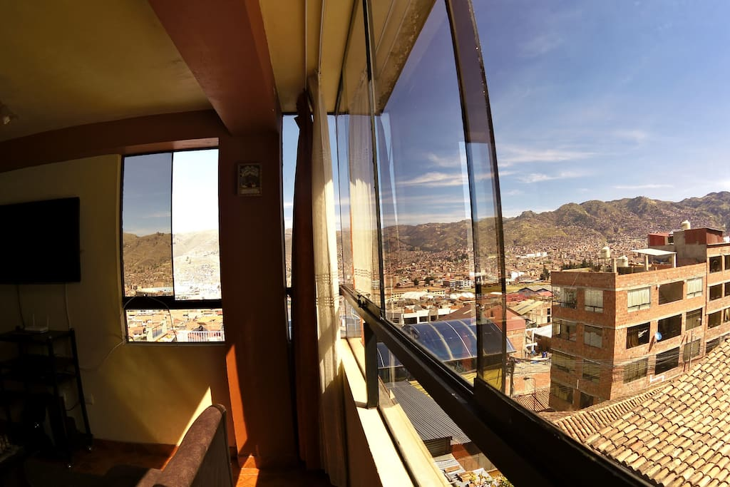 Vista desde la sala de nuestro departamento - Amazing view from our apartment.