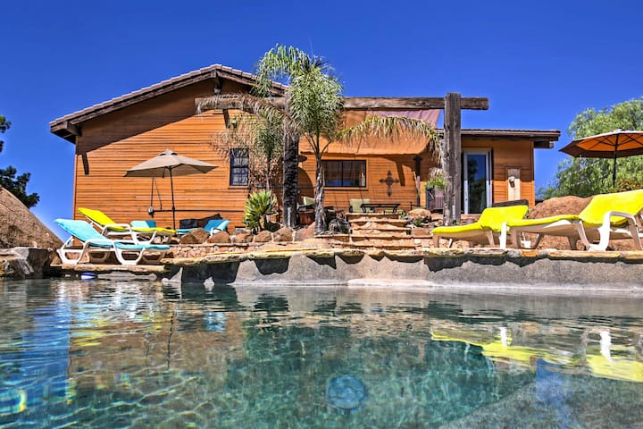 Tranquil Mountain Retreat w/Pool + Views in Jamul!