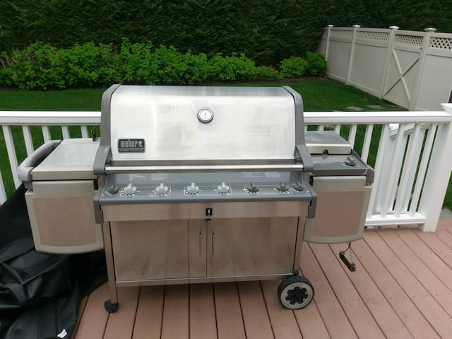 Weber 6 burner grill with tools