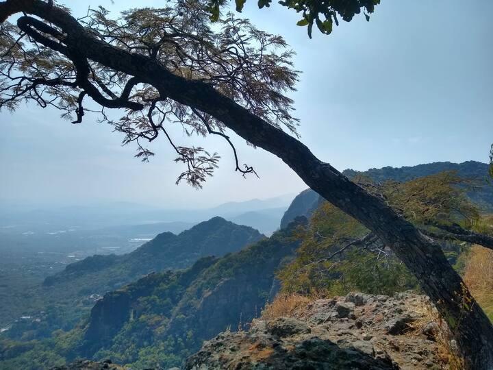 Tú cuartito en Tepoztlán! Vista a la montaña.