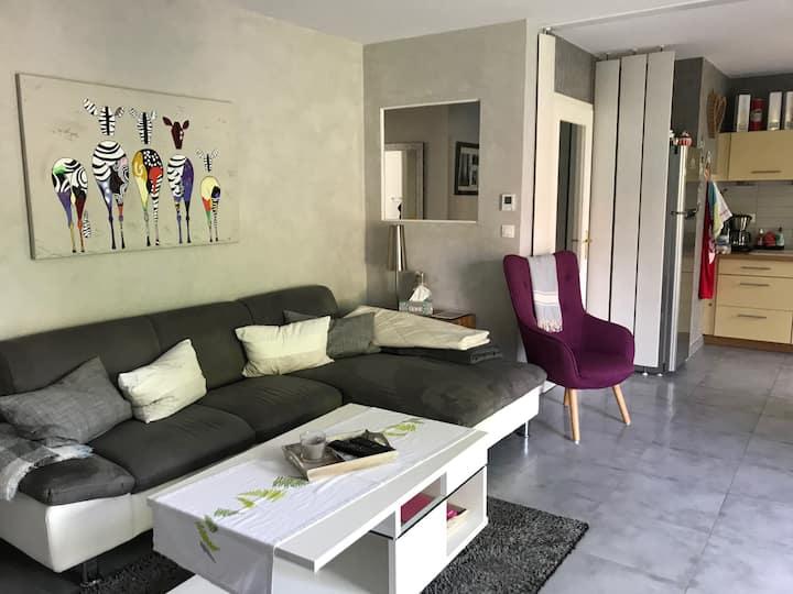 Appartement en rez de jardin