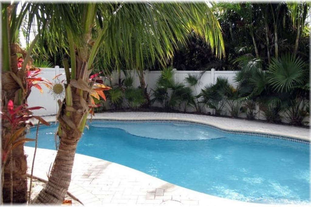 The warm and beautiful weather of South Florida is perfect for hanging out by the pool.  (Also has heat settings for the winter)